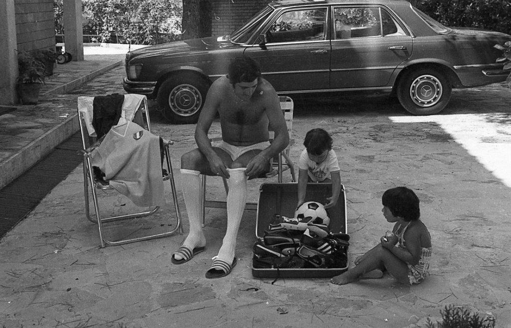 I primi scarpini da football di Giorgio Chinaglia