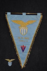 1969, gagliardetto Lazio-Fiorentina