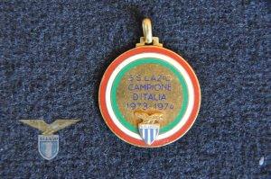 """1973/74, medaglia """"S.S. Lazio Campione d'Italia"""", fronte"""