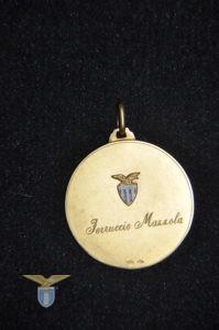 """1968/69, medaglia retro, """"Campionato 1968/69"""" a Ferruccio Mazzola"""