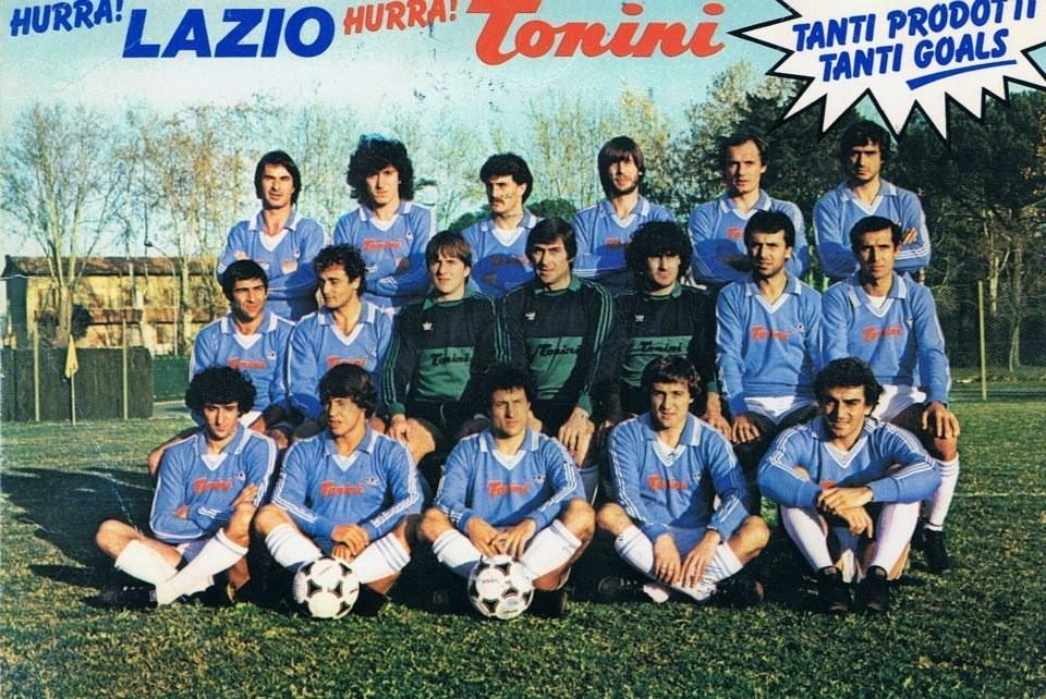 """Il primo sponsor ufficiale della storia della Lazio, la """"Tonini"""""""