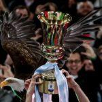 La Coppa Italia e le casacche vincenti esposte al Lazio Style Romaest, sabato 1 e domenica 2 giugno