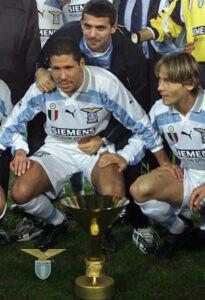 Coppa Scudetto 1999/00, Diego Simeone, Dejan Stanković e Pavel Nedved