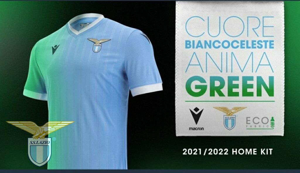La maglia della Lazio 2021/22 ha l'anima ecologica